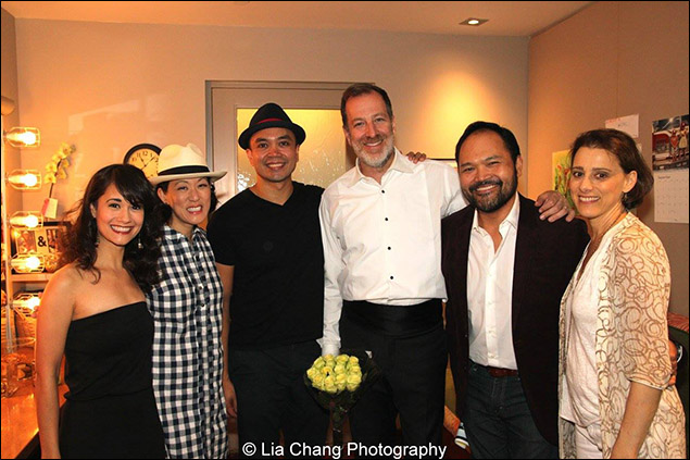 Ali Ewoldt, MaryAnn Hu, Jose Llana, Ted Sperling, Orville Mendoza and Judy Kuhn