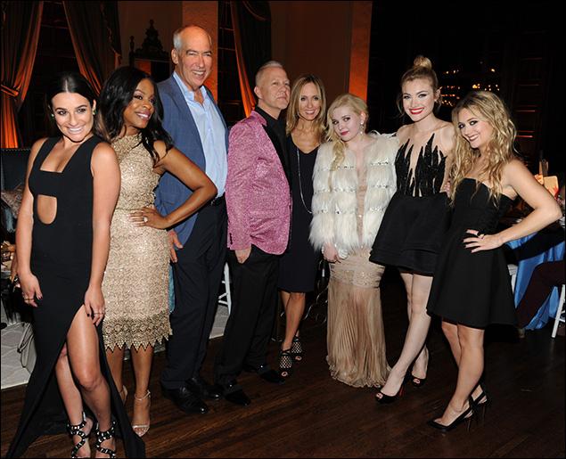 Lea Michele, Niecy Nash, Gary Newman, Ryan Murphy,  Dana Walden, Abigail Breslin, Skyler Samuels and Billie Lourd