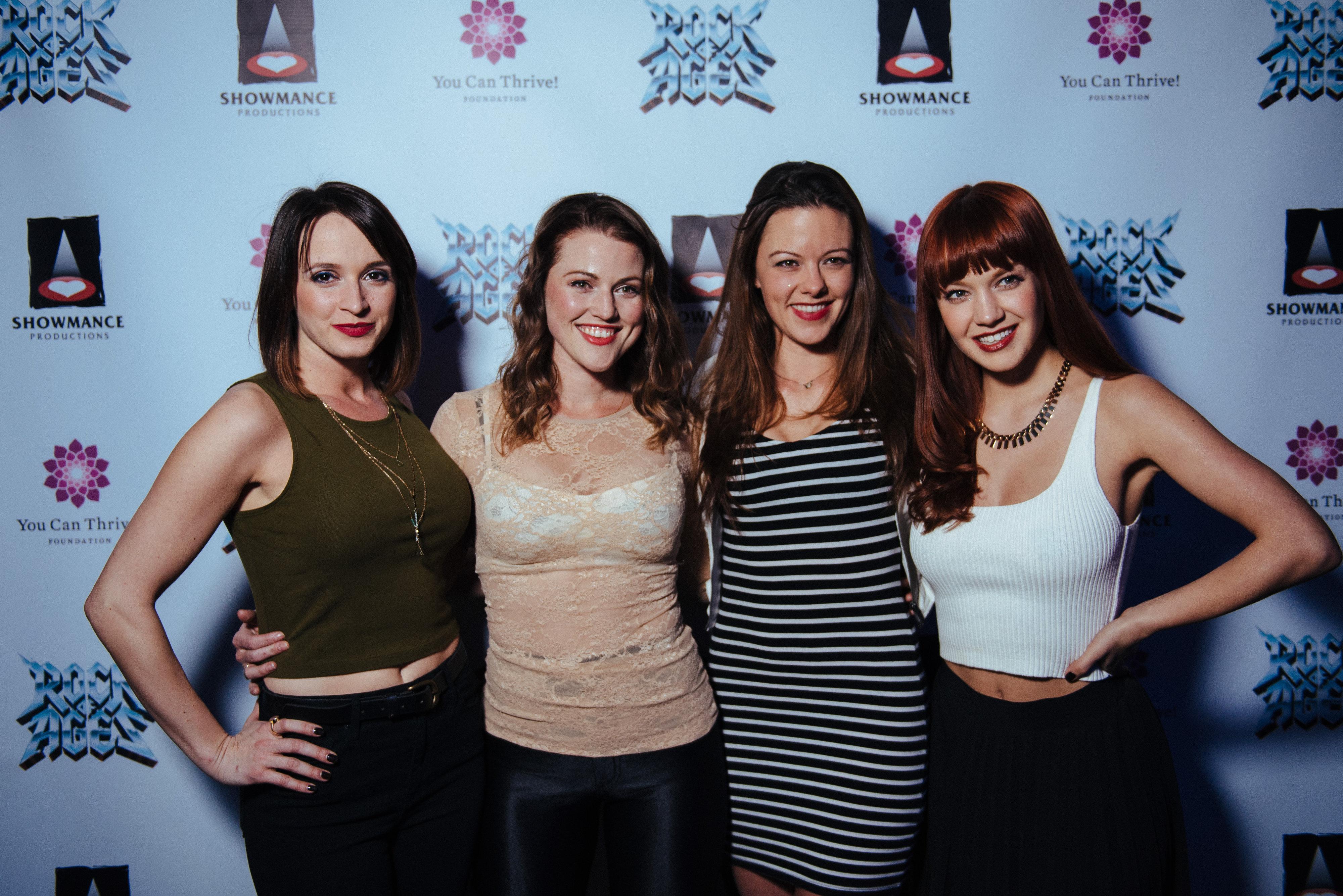 Emily Padgett, Rebecca Faulkenberry, Kate Rockwell and Lauren Zakrin