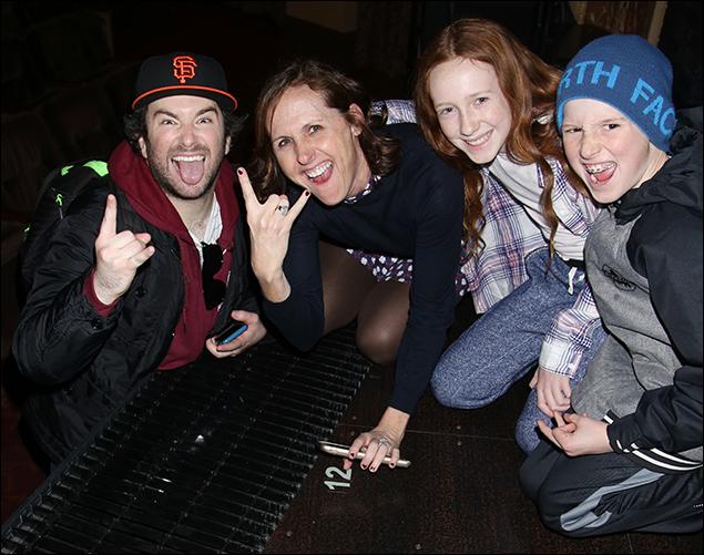 Alex Brightman, Molly Shannon, Stella Chestnut and Nolan Chestnut