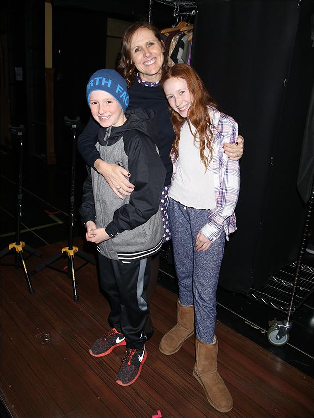 Nolan Chestnut, Molly Shannon and Stella Chestnut