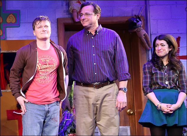 Steven Boyer, Bob Saget and Sarah Stiles