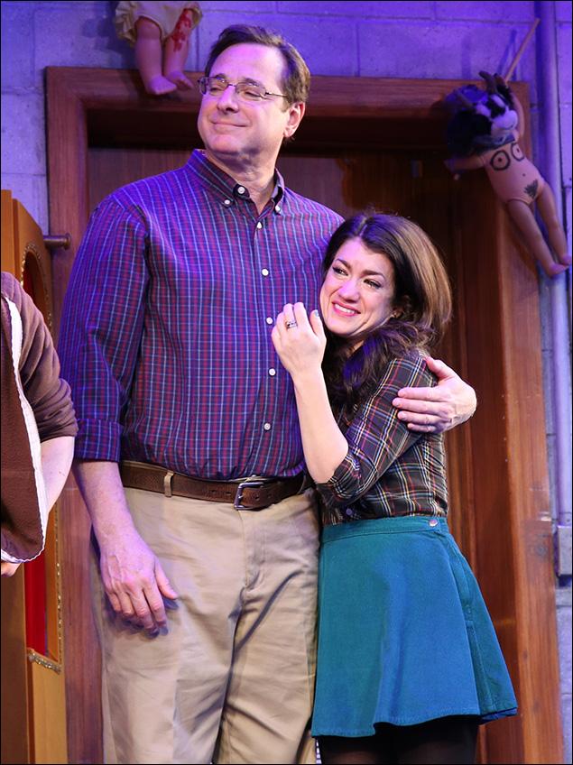 Bob Saget and Sarah Stiles