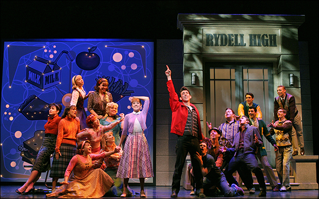 Laura Osnes, Max Crumm and company in the 2007 revival of Grease