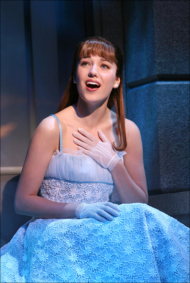 Laura Osnes in the 2007 revival of Grease