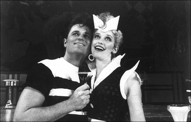 Sam Harris and Jessica Stone in the 1994 revival of Grease