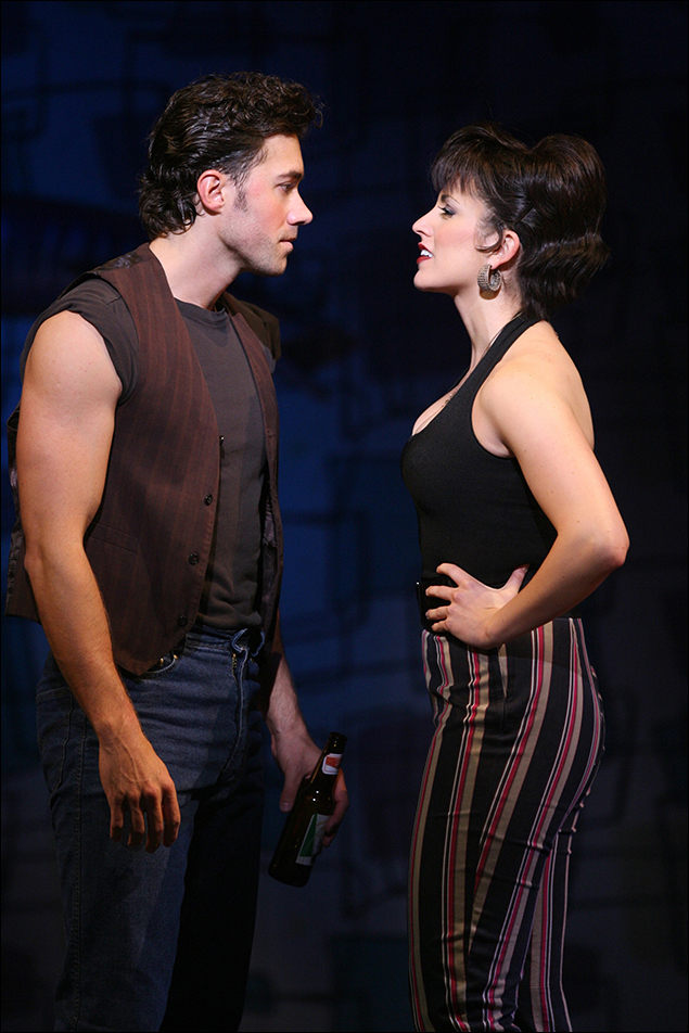Ace Young and Janine DiVita in the 2007 revival of Grease