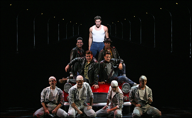 Ace Young and company in the 2007 revival of Grease