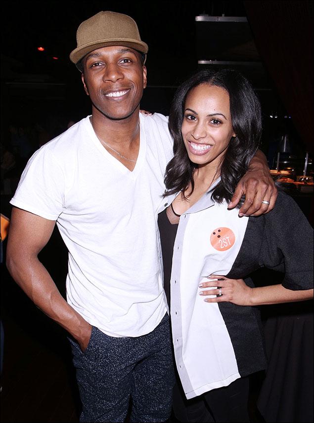 Leslie Odom, Jr. and Nicolette Robinson