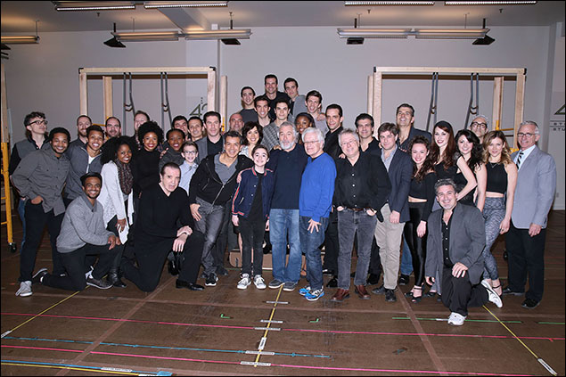 Chazz Palminteri, Sergio Trujillo, Robert De Niro, Jerry Zaks, Alan Menken, Glenn Slater and cast