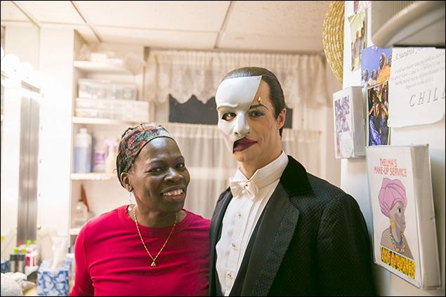 Make-up supervisor Thelma Pollard and Laird Mackintosh