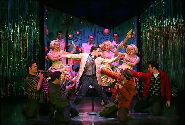 Ryan Patrick Binder and company in the 2007 revival of Grease