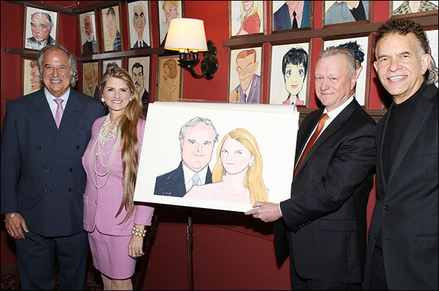 Stewart F. Lane, Bonnie Comley, Max Klimavicius and Brian Stokes Mitchell