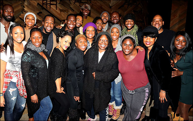 Whoopi Goldberg and the cast of The Color Purple