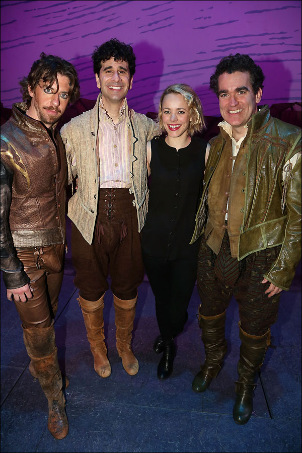 Christian Borle, John Cariani, Rachel McAdams and Brian d'Arcy James