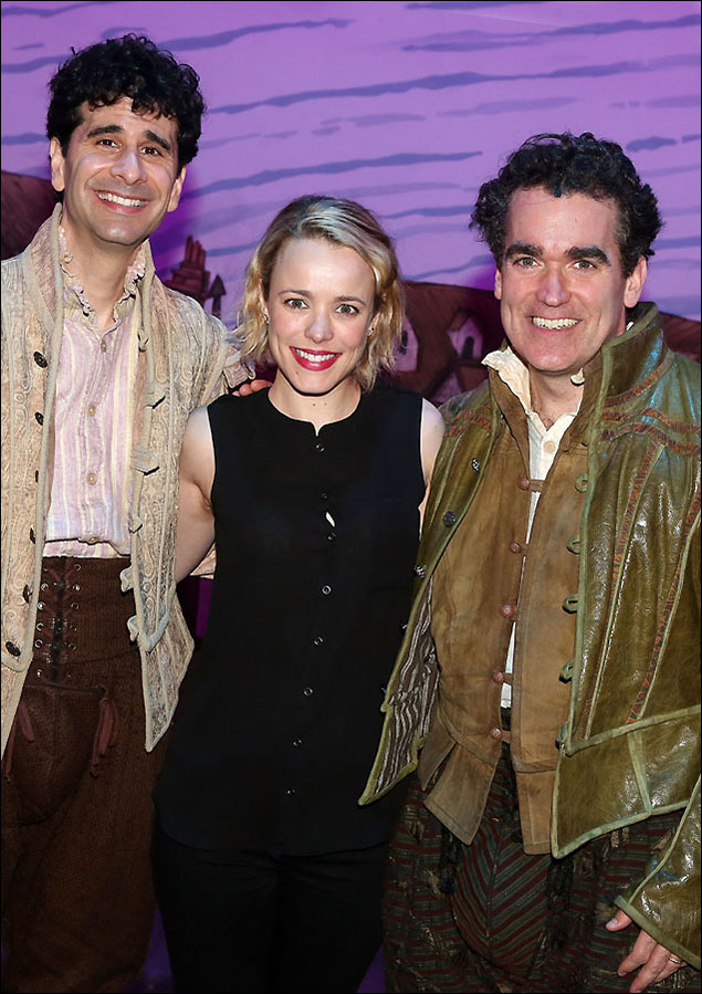 John Cariani, Rachel McAdams and Brian d'Arcy James
