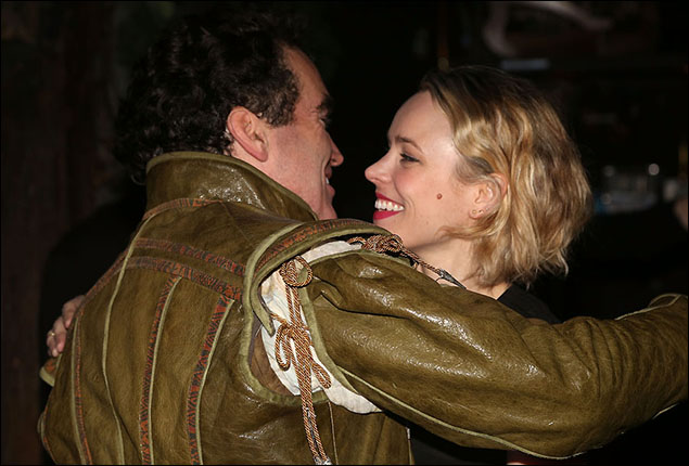 Brian d'Arcy James and Rachel McAdams