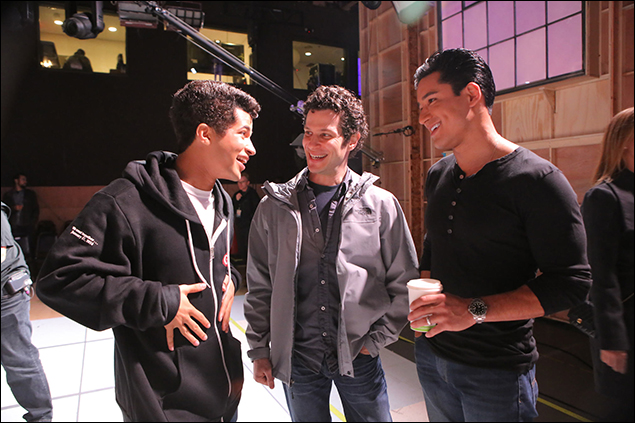 Jordan Fisher, Thomas Kail and Mario Lopez