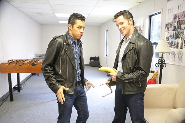 Carlos PenaVega and Andrew Call
