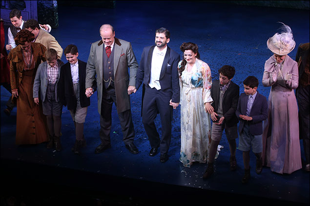Carolee Carmello, Eli Tokash. Kelsey Grammer, Laura Michelle Kelly, Tony Yazbeck, Teal Wicks and cast