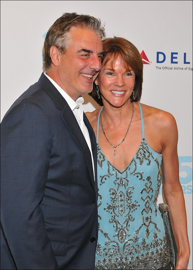 Chris Noth and Carolyn McCormick
