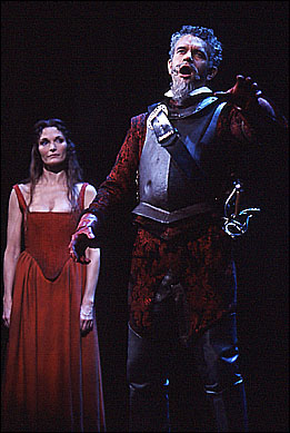 Mary Elizabeth Mastrantonio and Brian Stokes Mitchell in the 2002 revival of Man of La Mancha