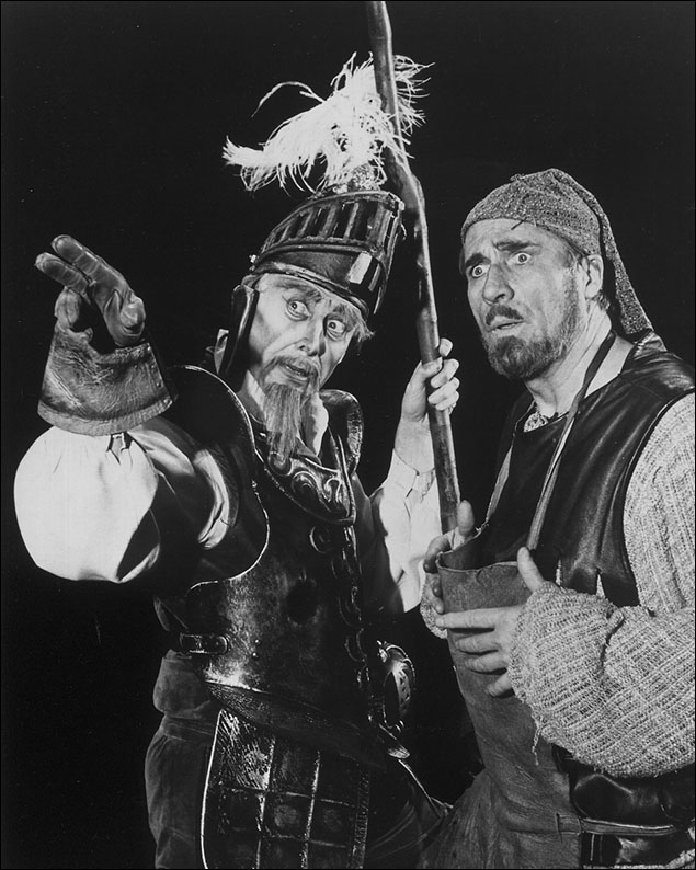 Richard Kiley and Robert Middleton in the original production of Man of La Mancha