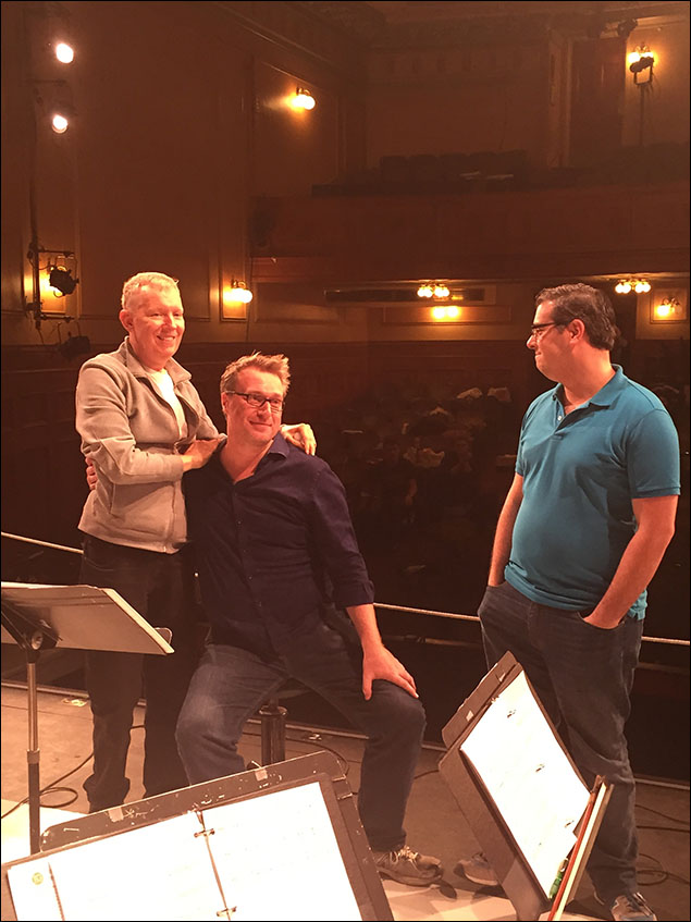 Matt Castle and our orchestrator Frank Galgano. Some of the most beautiful orchestrations ever.