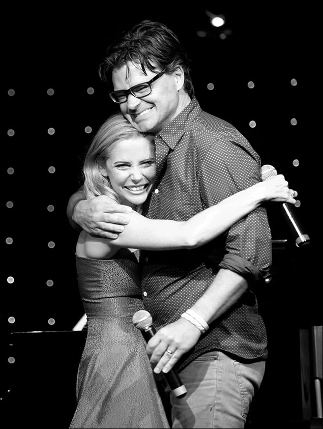 Kerry Butler and Hunter Foster