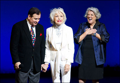 Lee Roy Reams, Carol Channing and Tyne Daly at Gypsy of the Year in 2010