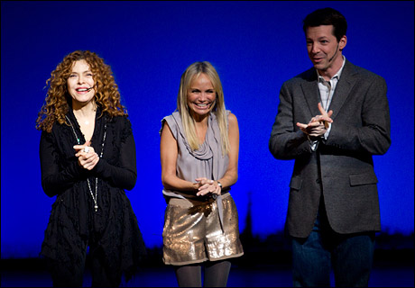 Bernadette Peters, Kristin Chenoweth and Sean Hayes at Gypsy of the Year in 2010