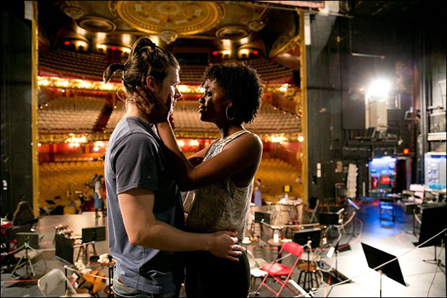Lucas Steele and Denée Benton in rehearsal at the Colonial Theatre