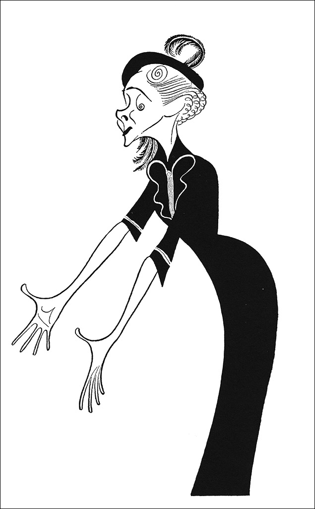 Helen Hayes, 1956 Hayes also traveled in Roundtable circles and was considered one of the finest actresses on the American Stage for most of the 20th Century. Hirschfeld drew her 28 times over 50 years.