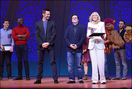 Hugh Jackman, Nathan Lane and Judith Light at the 2014 Gypsy of the Year