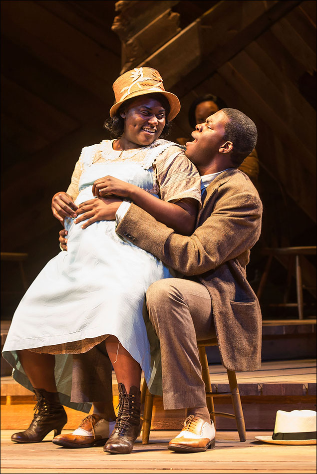 Danielle Brooks and Kyle Scatliffe