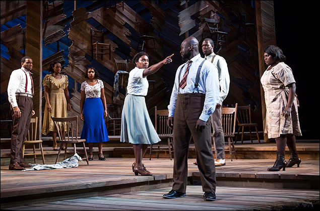 Antoine L. Smith, Patrice Covington, Jennifer Hudson, Cynthia Erivo, Isaiah Johnson, Kyle Scatliffe and Danielle Brooks