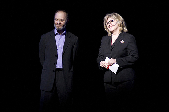 David Hyde Pierce and Debra Monk at the 2012 Gypsy of the Year