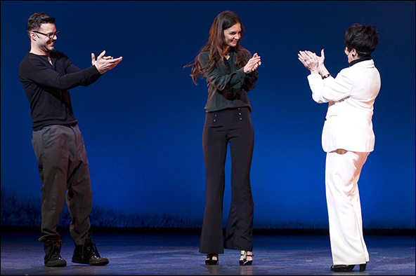 Ricky Martin, Katie Holmes and Chita Rivera at the 2012 Gypsy of the Year