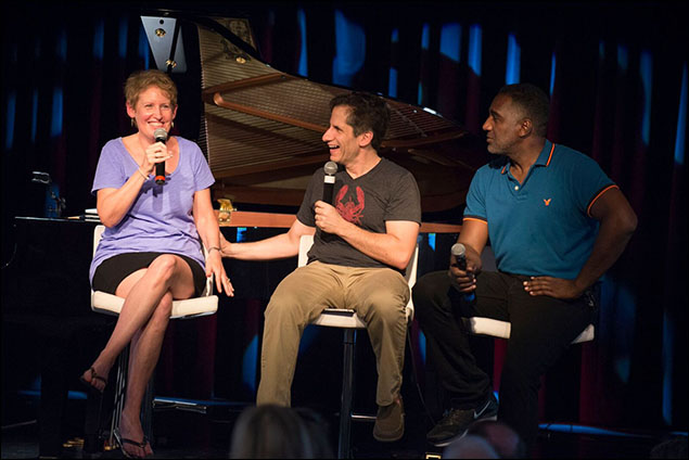 Liz Callaway, Seth Rudetsky and Norm Lewis