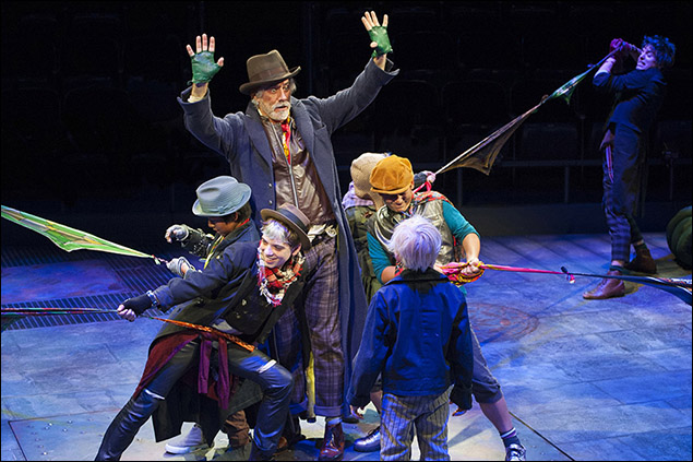 Jeff McCarthy and the company of Oliver!