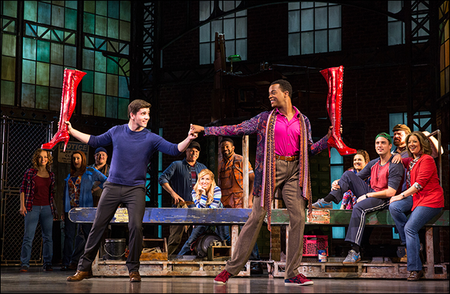 Adam Kaplan and J. Harrison Ghee and the Kinky Boots National Touring Company