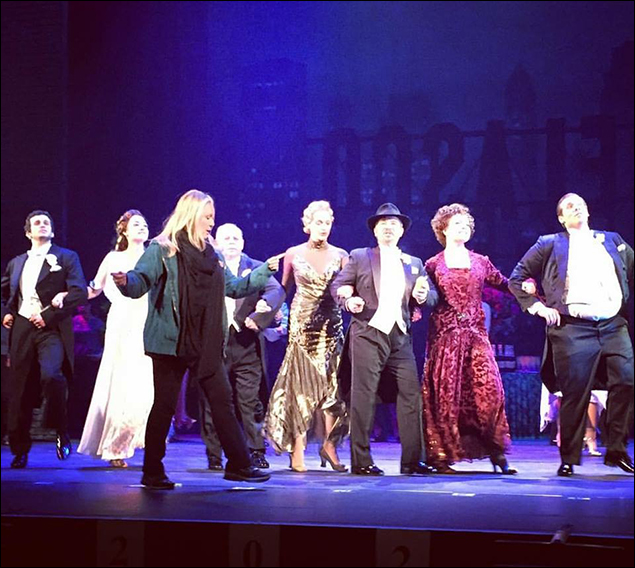 Susan Stroman joins us for a few days in tech. Here she is going over our finale choreography. It was so incredible to have a living legend directing us on this incredible production before we open!