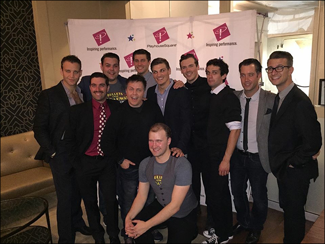 Our bulletsbeaus and wonderful director, Jeff Whiting, and assistant director, Michael LaMasa, at our opening night party in Cleveland!