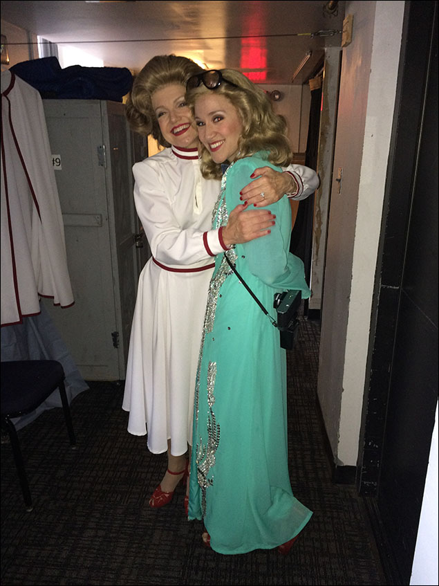 Mother and daughter (Betty and Susan Ford), after a quick and exciting trip to Iran with the Carters. The quick change between my two characters, Tricia and Susan, is amazing.