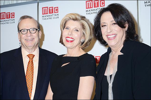 Barry Grove, Christine Baranski and Lynne Meadow