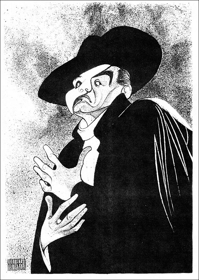 Colm Wilkinson In The Phantom Of The Opera, 1994 Wilkinson was the first Phantom, playing him in the original workshop production at the Sydmonton Festival in 1985. Hirschfeld would draw him twice in his other signature as Jean Valjean in Les Miserables.