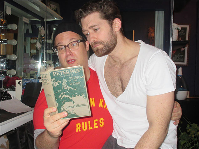 I always help Matthew Morrison get into character by sitting him on my knee and reading him stories of Peter Pan.  I'm very generous.