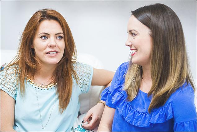 Rachel Tucker and Kara Lindsay