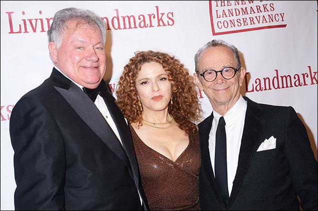 Robert E. Wankel, Bernadette Peters and Joel Grey
