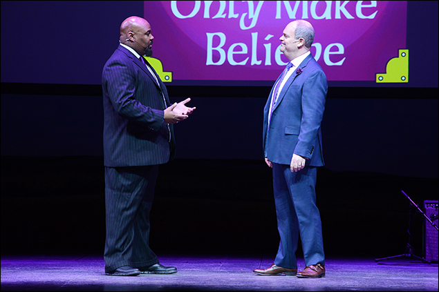 James Monroe Iglehart and Brad Oscar